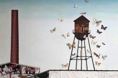 water tank and butterflies